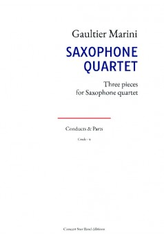 SAXOPHONE QUARTET - Couverture de livre auto édité