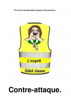 L'esprit Gilet jaune contre-attaque - Couverture Ebook auto édité