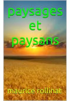 paysages  et paysans - Couverture de livre auto édité