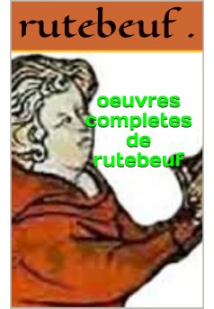 rutebeuf - Couverture Ebook auto édité
