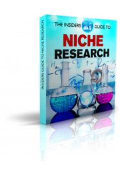 The Insiders Guide To Niche Research - Couverture Ebook auto édité