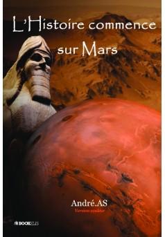 L'Histoire commence sur Mars - Couverture de livre auto édité