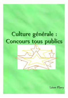 LE LIVRE DE CULTURE GENERALE AUX CONCOURS***** - Couverture Ebook auto édité