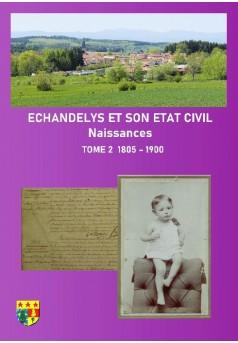 ECHANDELYS et son état civil - Couverture de livre auto édité