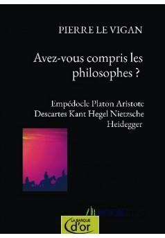 Avez-vous compris les philosophes ?  - Couverture de livre auto édité