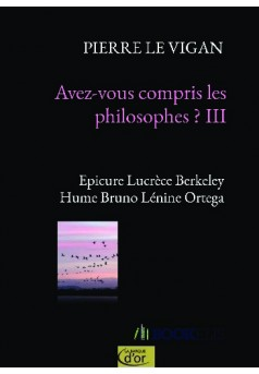 Avez-vous compris les philosophes ? III - Couverture de livre auto édité