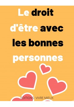 The right of being with good people - Couverture Ebook auto édité