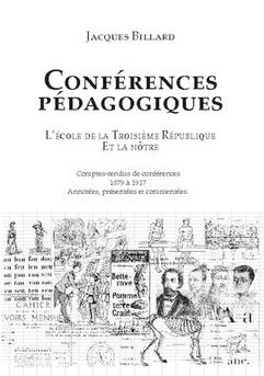Conférences pédagogiques - Couverture de livre auto édité