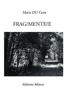 FRAG/MENTE/E - Couverture de livre auto édité
