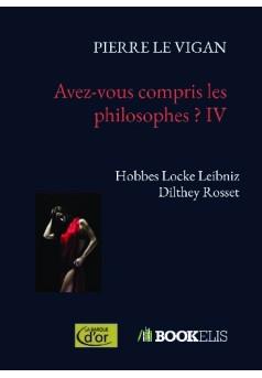 Avez-vous compris les philosophes ? IV - Couverture de livre auto édité