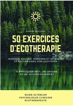 50 Exercices d'Écothérapie - Couverture de livre auto édité