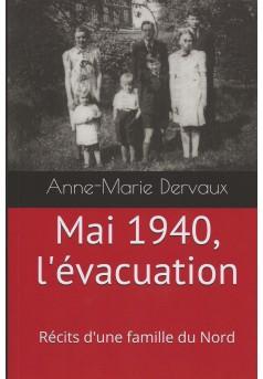 Mai 1940, l'évacuation - Couverture Ebook auto édité