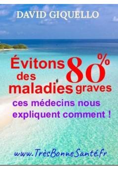 Évitons 80% des maladies graves - Couverture Ebook auto édité