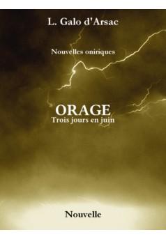 ORAGE - Couverture Ebook auto édité
