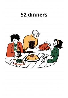 52 dinners - Couverture Ebook auto édité
