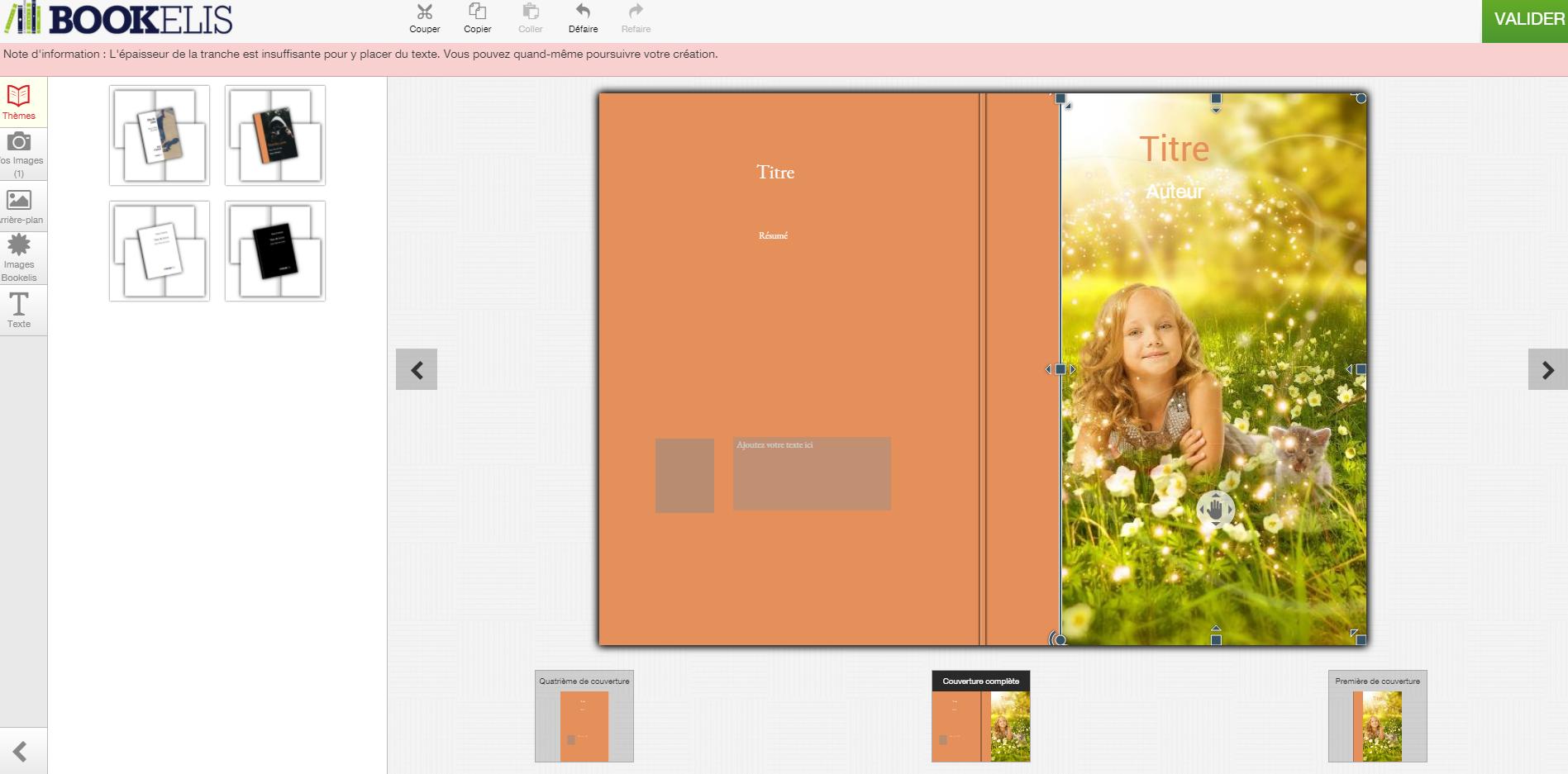 Créer une couverture de livre