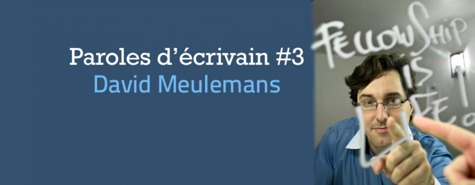 Paroles d'écrivain #3 : David Meulemans