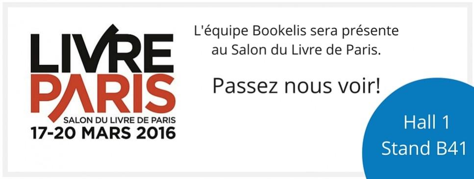Sur le stand Bookelis au Salon du Livre de Paris 2016
